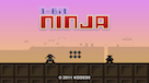 1-bit Ninja Title Screen Shot